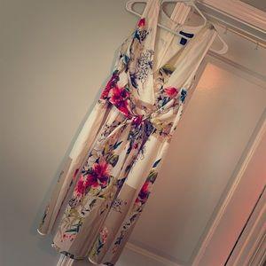 White House Black Market Floral Marilyn Dress
